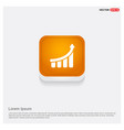 business graph icon orange abstract web button vector image vector image