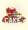 cake banner poster chocolate vector image
