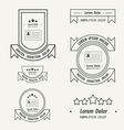 Card Label And Ribbon line style vector image vector image