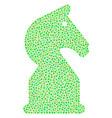 chess horse mosaic of dots vector image vector image