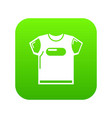 child t shirt icon green vector image vector image