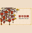 chinese new year festive template vector image