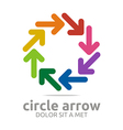 circle arrow colorful design symbol icon vector image