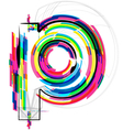 Colorful Font - Letter p vector image vector image