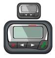 Convenient compact pager for business person vector image
