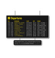 departure and arrival board airline scoreboard vector image