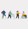 disabled handicapped people vector image vector image