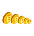 fall bitcoin reduction price crypto vector image