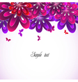 Flower pink background vector image vector image