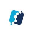 fluid chiropractic logo design template vector image