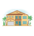 frontview of usa arizona style suburban private vector image vector image