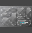 glass frames with metal holder collection vector image vector image