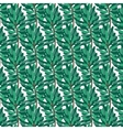 Green pine pattern on transparent background vector image vector image