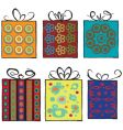 grunge assorted present gifts vector image vector image