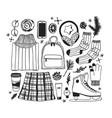 hand drawn fashion creative ink art vector image