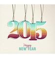 Happy New Year 2015 hang tag vintage card vector image vector image