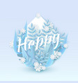 happy text winter natural vector image
