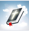 holy bible in the sky vector image