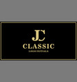 jc monogram classic logo design inspiration vector image vector image
