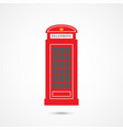 london telephone box vector image vector image