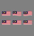 malaysia flag set official colors and proportion vector image vector image