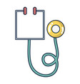 medical stethoscope tool and cardiology element vector image vector image