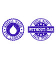 mineral water without gas grunge stamp seals vector image vector image