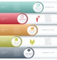 Modern business infographics options banner vector image vector image