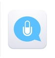 modern microphone icon in blue bubble vector image