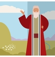 Moses Jew Banner vector image vector image