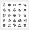 Nature icons set vector image vector image