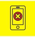 navigation application smartphone vector image