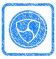 nem coin framed stamp vector image vector image