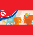 north korea or democratic people s republic of vector image vector image
