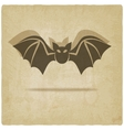 old background with bat vector image vector image