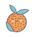 orange fruit fresh cartoon food cute flat style vector image