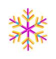 oval strips geometric snowflake icon trendy vector image vector image