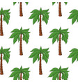 palm trees as seamless pattern colored hand drawn vector image