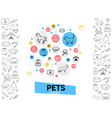 pets care template vector image