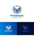 phoenix modern logo design vector image vector image