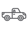 pickup line icon transport and automobile truck vector image vector image