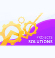 project solution concept banner cartoon style vector image vector image