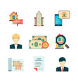 real estate icons rent property home sale vector image