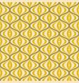 retro mid-century yellow saucer seamless pattern vector image