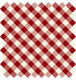 seamless checked red pattern vector image