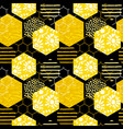 Seamless geometric pattern with honeycomb trendy