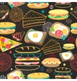 Seamless pattern sandwiches vector image vector image