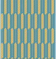 seamless pattern wheat cereal vector image vector image