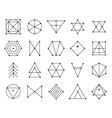 Set of geometric hipster shapes 9225711 vector image vector image