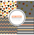 Set with seamless autumn pattern vector image vector image